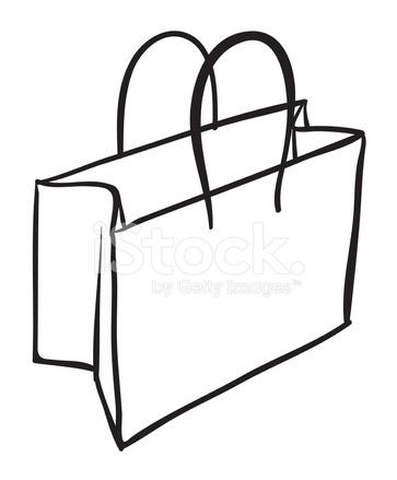 bag sketch stock vector