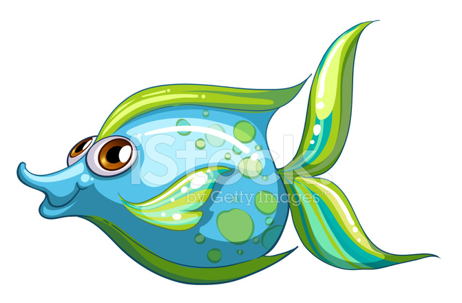 Big blue fish with a stripe colored tail stock vector for Big blue fish