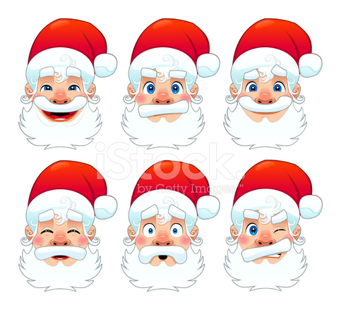 Santa Claus Multiple Stock Vector Freeimages Com