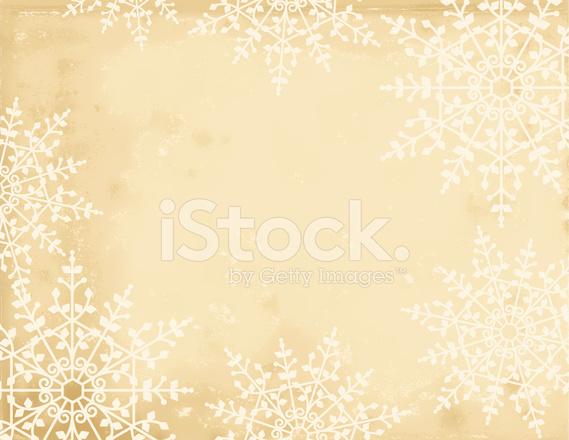 Sfondo Pergamena Fiocco Di Neve Di Natale Stock Vector Freeimagescom