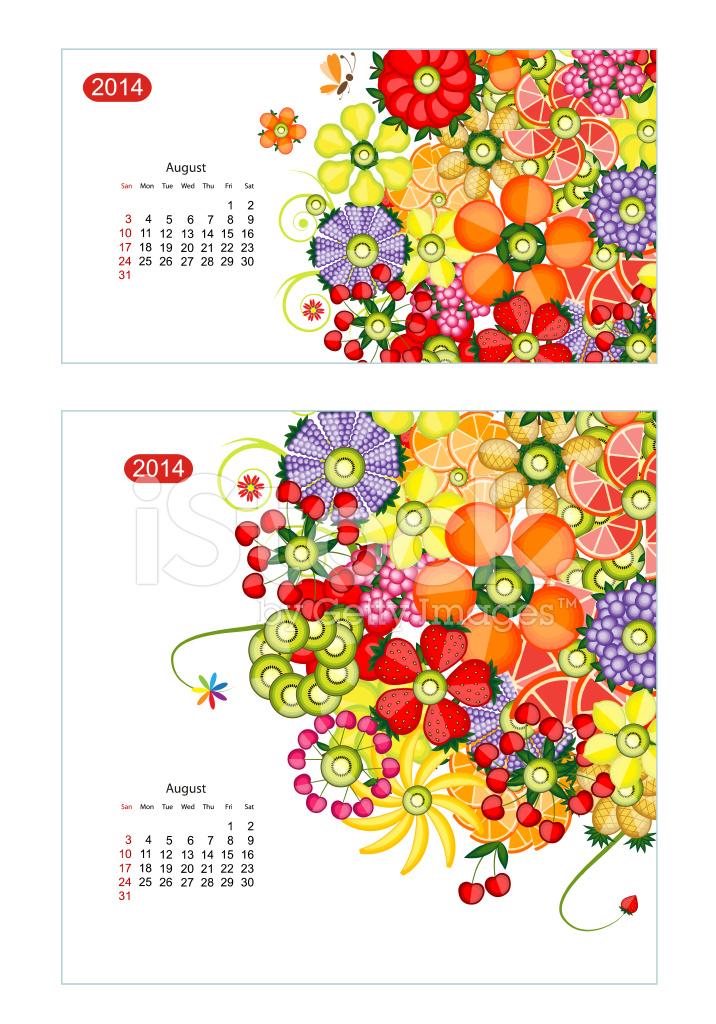 Calendar Design Size : Floral calendar design for two size of paper stock