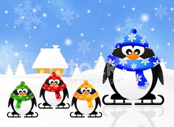 pinguine schlittschuhlaufen auf dem eis stock vector. Black Bedroom Furniture Sets. Home Design Ideas