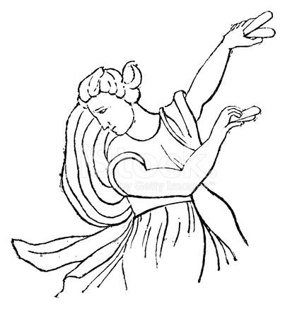 Antique Illustration of Crotalistria (castanet Dancer ...