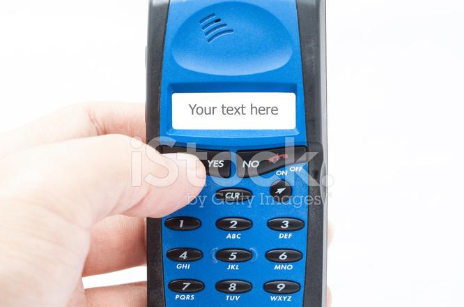 Vecchio Stile Telefono Cellulare Cellulare Su Sfondo Bianco