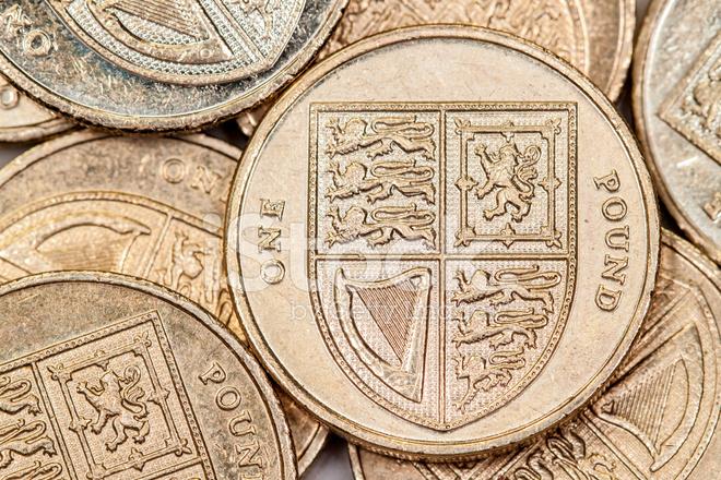 Britisches Pfund Münzen Stockfotos Freeimagescom