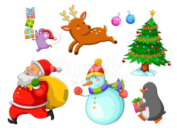 Christmas Cartoons Stock Vector