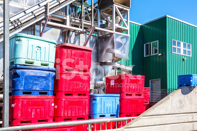 Fish Processing Plant IN Juneau, Alaska Stock Photos