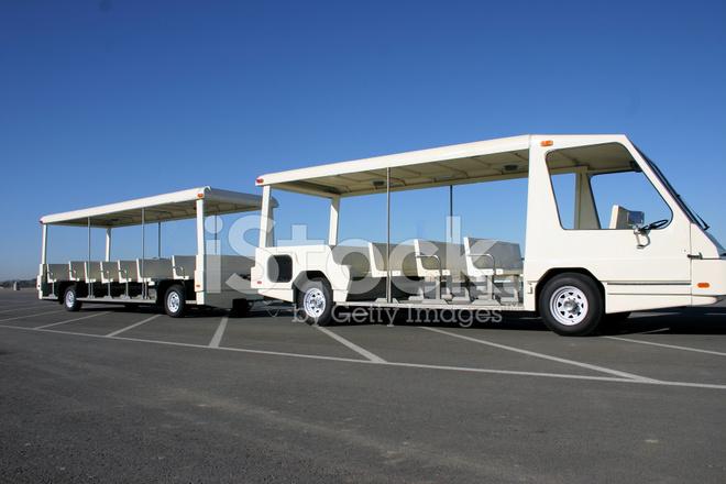 parking lot tram stock photos. Black Bedroom Furniture Sets. Home Design Ideas