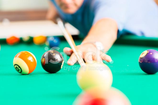 Men Playing Pool Dof Stock Photos Freeimages Com