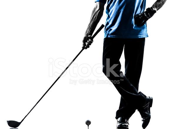 Nahaufnahme Mann Golfer Golf Silhouette Stockfotos Freeimages Com