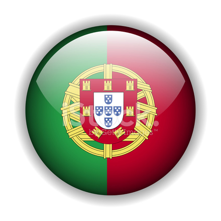 Portugal Flag Button, Vector Stock Vector - FreeImages.com