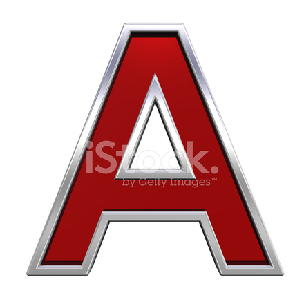 one letter from ruby with chrome frame alphabet set stock