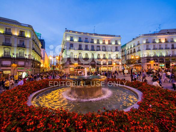 Puerta Del Sol Madrid Spain Stock Photos