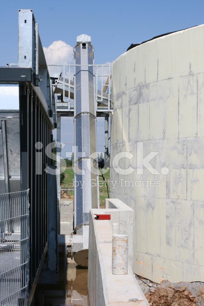 Building of bio gas plant 4 stock photos for Construction bio