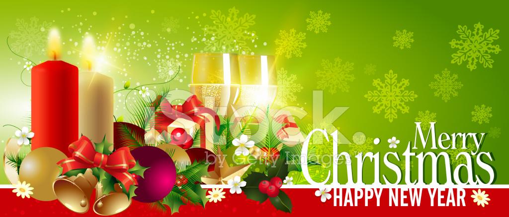 Frohe Weihnachten UND Neujahr Banner Stock Vector - FreeImages.com