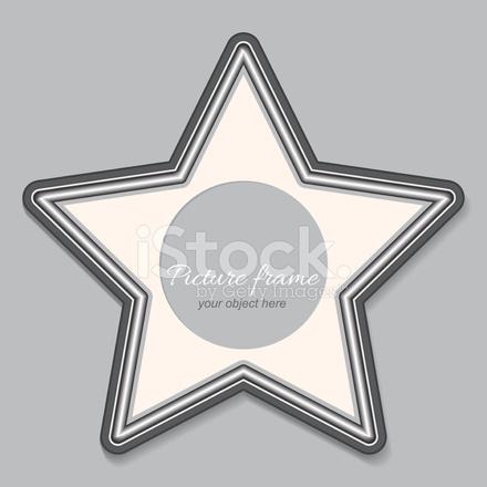 Vintage Frame Black and White Star Stock Vector - FreeImages.com
