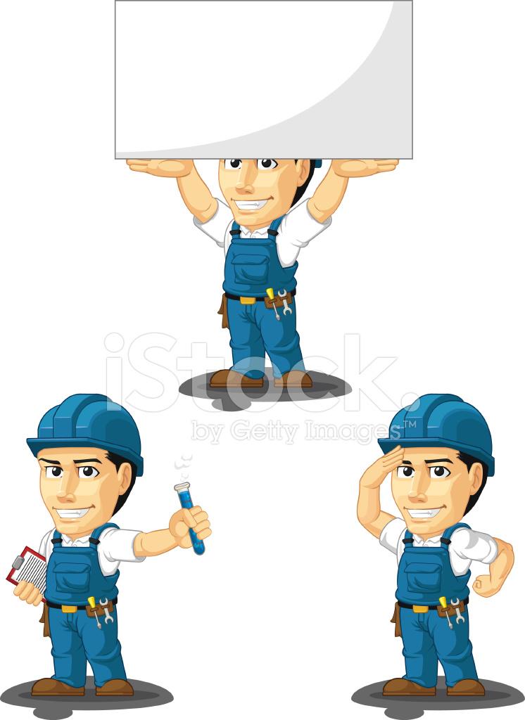 technician or repairman customizable mascot 8 stock vector