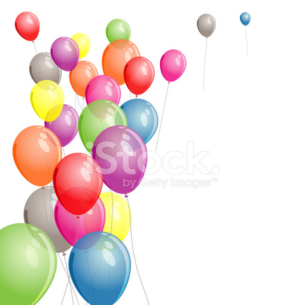 Sfondo Di Palloncini Colorati Vettoriale Stock Vector Freeimages Com