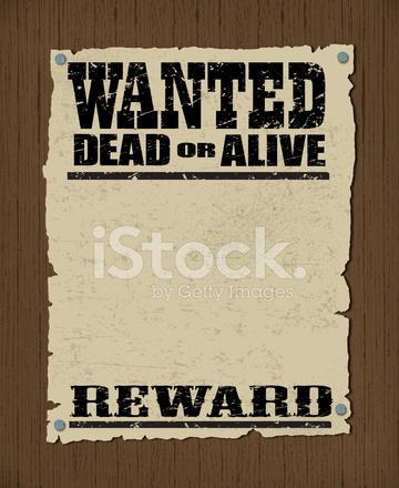 Wollte Poster Tot Oder Lebendig, Belohnung Stock Vector - FreeImages.com