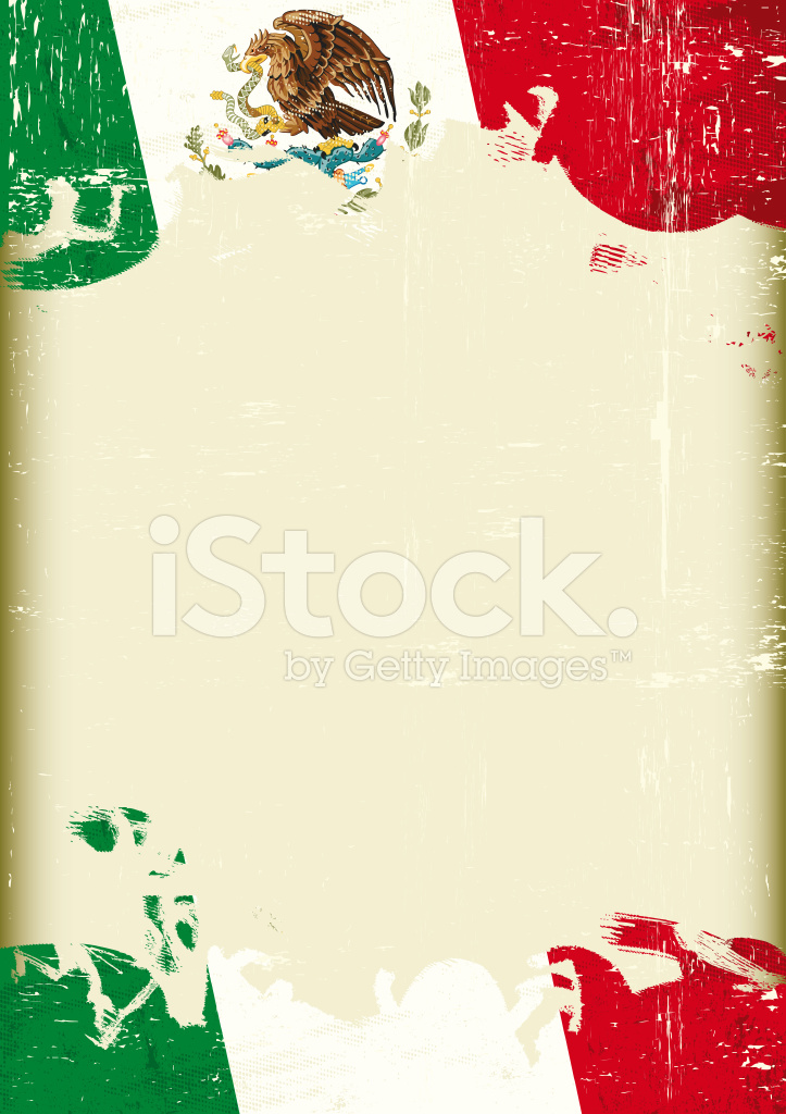 Bandera Mexicana Grunge Stock Vector - FreeImages.com