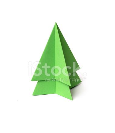 Albero Di Natale Origami.Albero Di Natale Origami Su Sfondo Bianco Fotografie Stock Freeimages Com