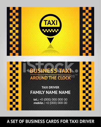 Visitenkarten Taxifahrer Stock Vector Freeimages Com