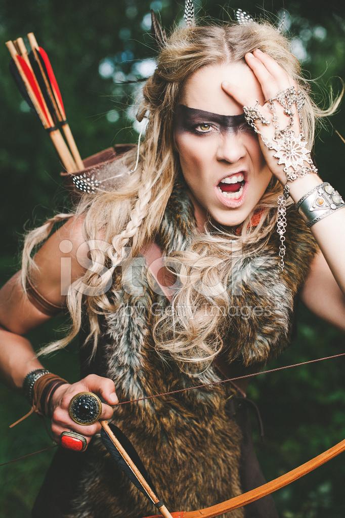 Beautiful Northern Elf Warrior Princess Stock Photos