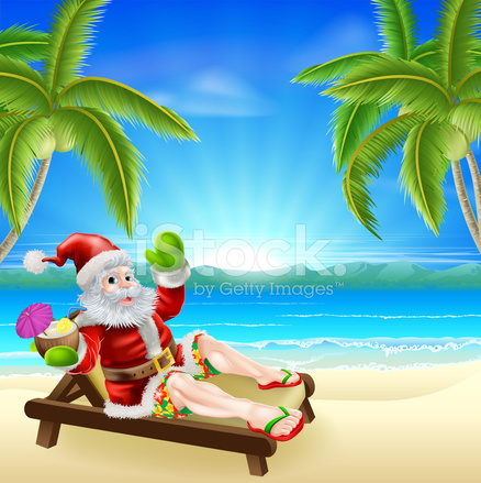 Scena Estate Natale Santa Beach Stock Vector - FreeImages.com ea97ee79bf4c
