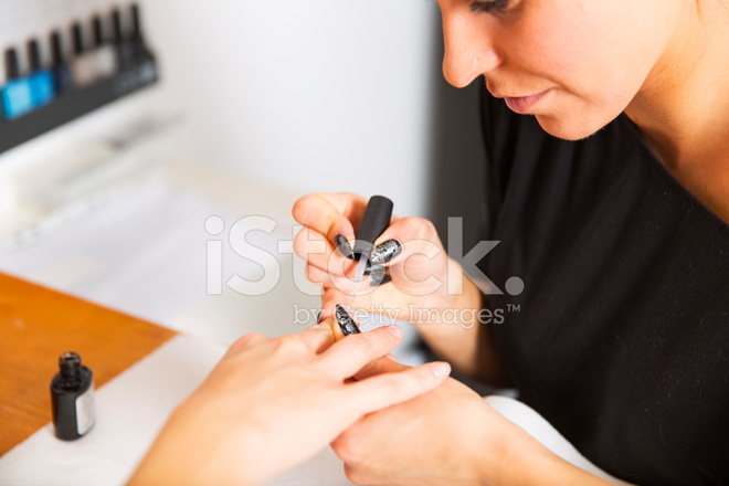 Manicure Woman Doing Nail Art Stock Photos Freeimages