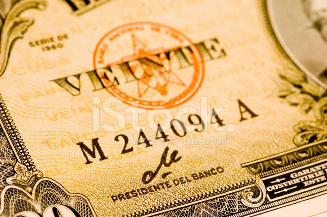 Ernesto Che Guevaras Signature On 1960 Cuban Peso Stock Photos