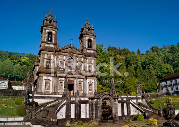 Santuario Bom Jesus Do Monte Braga Portugal Stock Photos