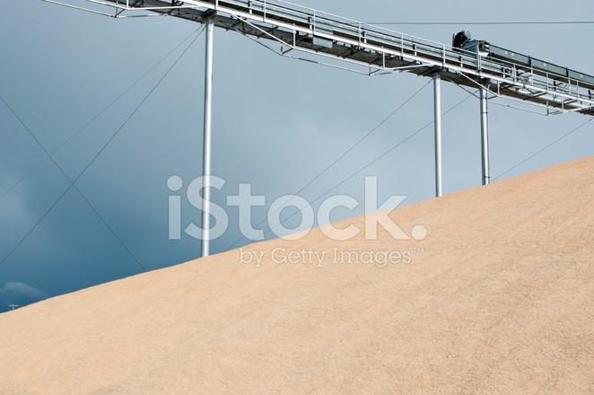 Surplus Grain and Conveyor Belt AT Community Granary Stock