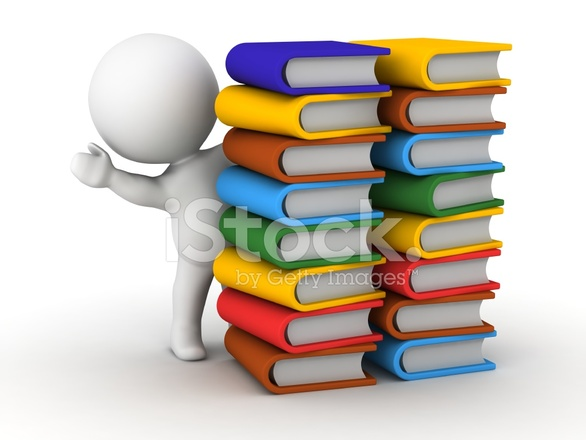 3d Character Design Books : D man waving from behind stacks of books stock photos