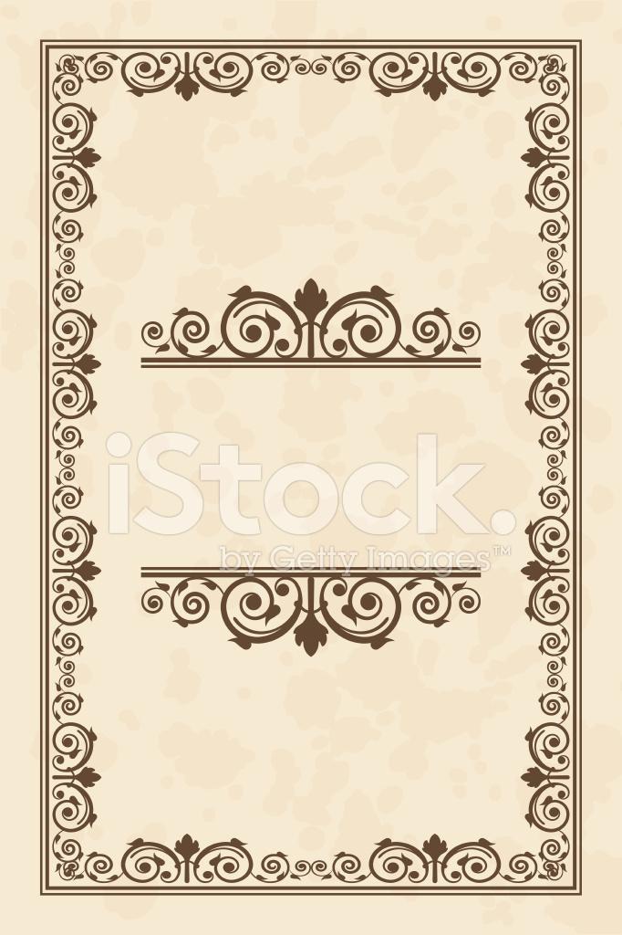 Cornice Pergamena Vintage Vettoriale Stock Vector Freeimagescom