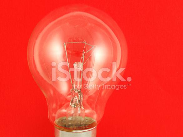 light bulb on red stock photos