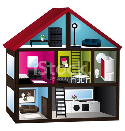 3D Haus Schnitt