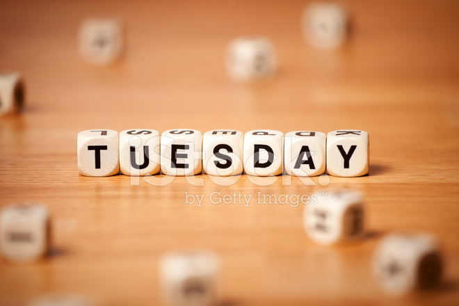 Tuesday Spelled In Letter Cubes Stock Photos Freeimages Com