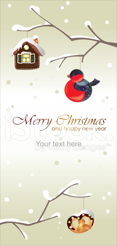 Merry Christmas and Happy New Year Greeting Card Vertical Stock ...