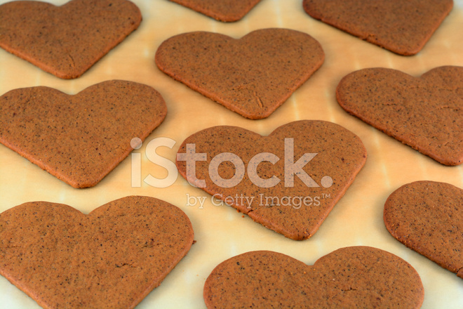 Gingerbread Heart Cookies Stock Photos Freeimages Com