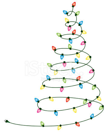 christmas lights tree stock vector freeimages com christmas lights tree stock vector