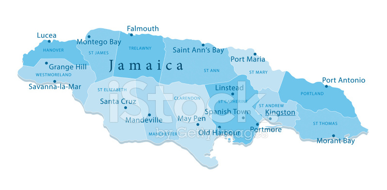 Jamaica vector map regions isolated stock vector freeimages jamaica vector map regions isolated sciox Images