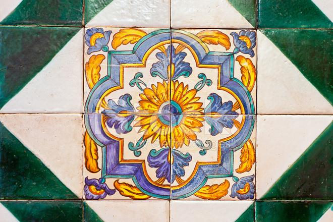 Decorazione da parete di piastrelle di ceramica vecchio spagnolo