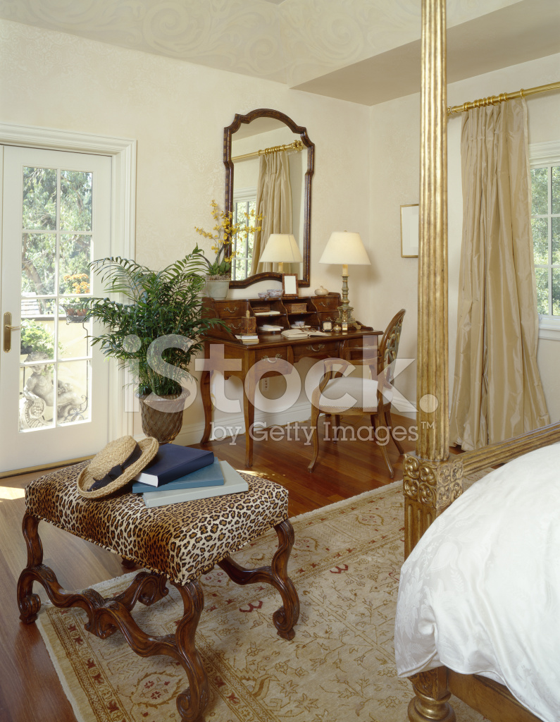 Bedroom Vanity And Ottoman Stock Photos