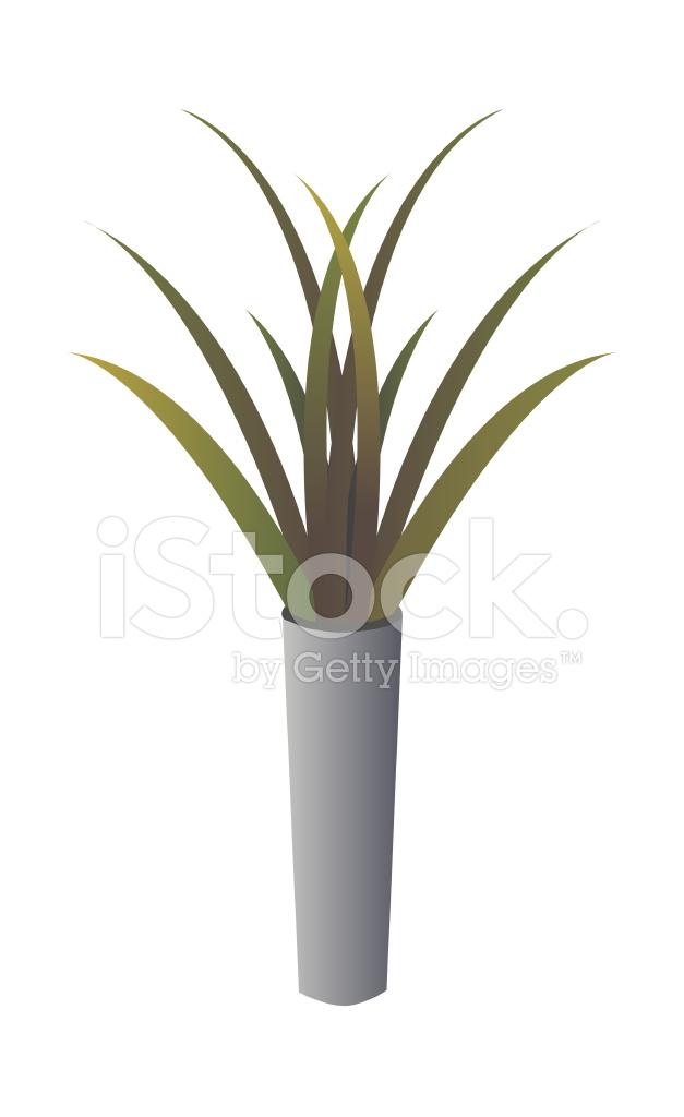 Pot De Fleurs Icone Stock Vector Freeimages Com