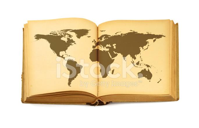 開いた本の世界地図 ストックフォト Freeimagescom