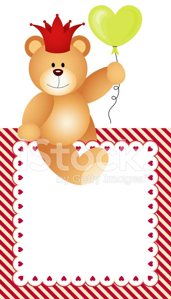 Frame Lovely Teddy Bear Stock Vector - FreeImages.com
