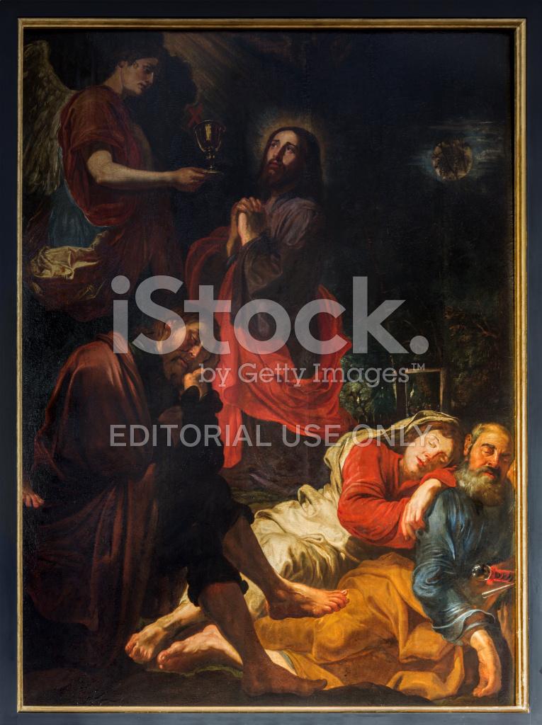 Antwerpen Jesus Im Garten Gethsemane Von David Teniers Stockfotos