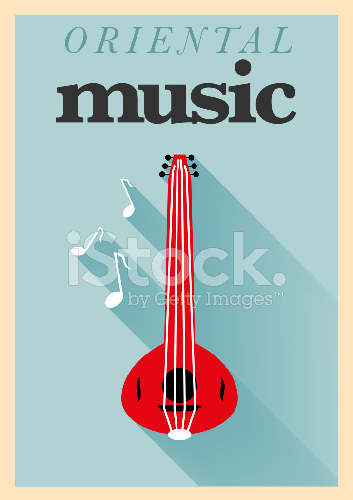musica orientale minimal poster design stock vector. Black Bedroom Furniture Sets. Home Design Ideas