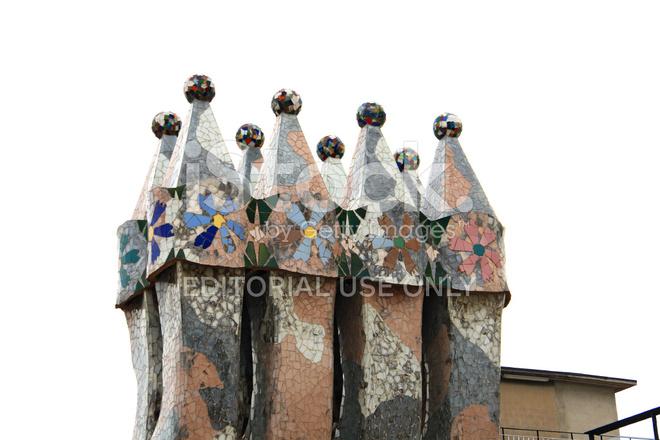 Premium Stock Photo Of Schornsteine Auf Dem Dach Des Hauses Casa Batllo