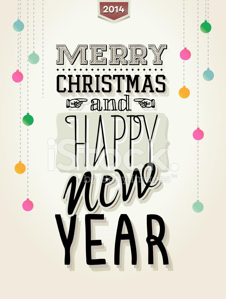 Frohe Weihnachten Und Happy New Year.Frohe Weihnachten Und Happy New Year Typografie Vektor Illustratio